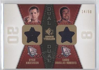 2008-09 SP Rookie Threads - Rookie Threads Dual - Gold #RTD-DA - Ryan Anderson, Chris Douglas-Roberts /50
