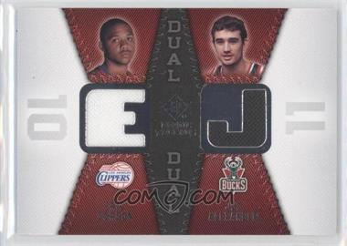 2008-09 SP Rookie Threads - Rookie Threads Dual #RTD-GA - Joe Alexander, Eric Gordon