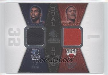 2008-09 SP Rookie Threads - Rookie Threads Dual #RTD-MR - Derrick Rose, O.J. Mayo