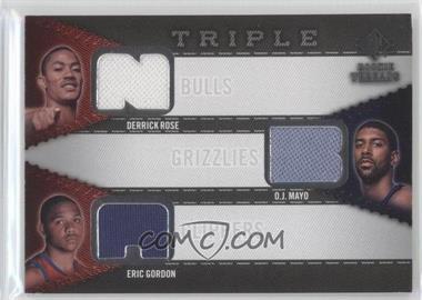 2008-09 SP Rookie Threads - Rookie Threads Triple #RTT-MRG - Eric Gordon, Derrick Rose, O.J. Mayo