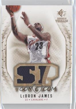 2008-09 SP Rookie Threads - SP Threads - Jersey/Patch #T-LJ - Lebron James