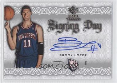 2008-09 SP Rookie Threads - Signing Day #SD-BL - Brook Lopez