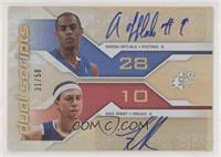 Arron Afflalo, Mike Bibby [EX to NM] #/50