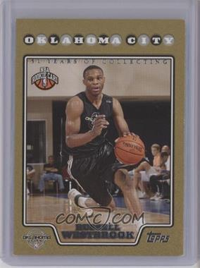 2008-09 Topps - [Base] - Gold Border #199 - Russell Westbrook /2008