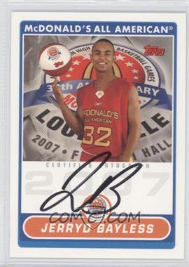 2008-09 Topps - McDonald's High School Certified Autographs #JB - Jerryd Bayless