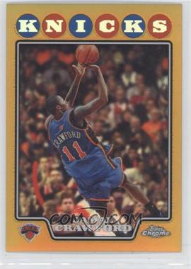 2008-09 Topps Chrome - [Base] - Gold Refractor #101 - Jamal Crawford /50