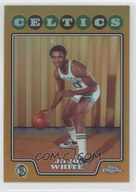2008-09 Topps Chrome - [Base] - Gold Refractor #176 - Jo Jo White /50