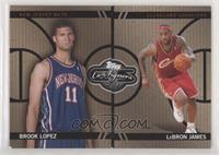 Brook Lopez, Lebron James [EX to NM] #/399
