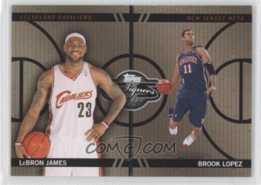 2008-09 Topps Co-Signers - Changing Faces - Gold #CF-46-6 - Lebron James, Brook Lopez /199