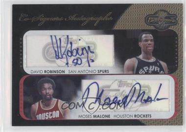 2008-09 Topps Co-Signers - Dual Autographs - Gold #CS-RM - David Robinson, Moses Malone /5