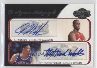 2008-09 Topps Co-Signers - Dual Autographs #CS-HWS - J.J. Hickson, Hot Rod Williams /240