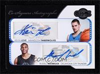 Russell Westbrook, Kevin Love #/43