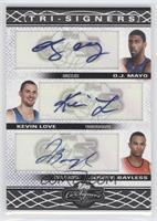 O.J. Mayo, Kevin Love, Jerryd Bayless #/36