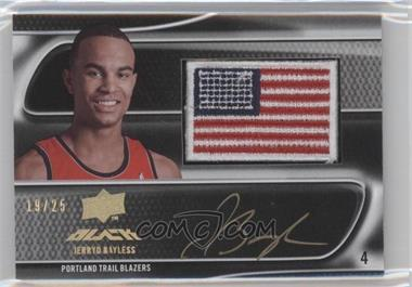 2008-09 UD Black - Flag Patch Autographs - Gold #US-JB - Jerryd Bayless /25