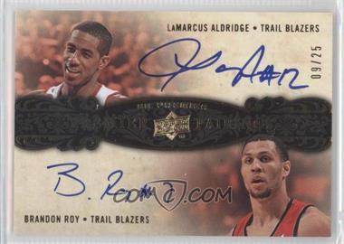 2008-09 UD Premier - Premier Pairings - [Autographed] #P2-AR - Brandon Roy, LaMarcus Aldridge /25
