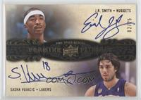 J.R. Smith, Sasha Vujacic #/25