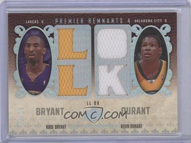 2008-09 UD Premier - Premier Remnants 4 - Team Initials #PR4-BD - Kobe Bryant, Kevin Durant /10