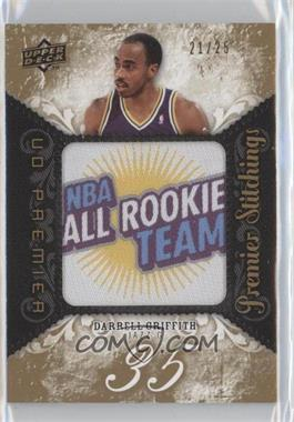 2008-09 UD Premier - Premier Stitchings - Level 2 #PS-DG - Darrell Griffith /25