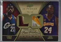 Lebron James, Kobe Bryant [Noted] #/50