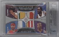 Earl Monroe, Allen Iverson, Kobe Bryant, Pete Maravich /10 [BGS9]