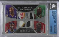 Kevin Garnett, Kobe Bryant, LeBron James, Michael Jordan /10 [BGS Authenti…