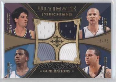 2008-09 Ultimate Collection - Ultimate Foursomes Memorabilia - Generations #UFC-GRDS - Jason Kidd, Chris Paul, Deron Williams, John Stockton /35