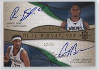 Randy Foye, Corey Brewer /25
