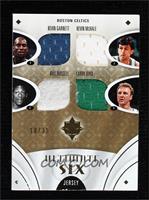 Kevin Garnett, Kevin McHale, Bill Russell, Larry Bird, Paul Pierce, Ray Allen #…