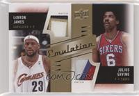 LeBron James, Julius Erving [EX to NM]