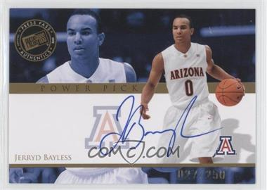 2008 Press Pass - Power Pick Autographs #PP-JB - Jerryd Bayless /250