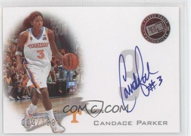 2008 Press Pass - Press Pass Signings - Silver #PPS-CP - Candace Parker /199