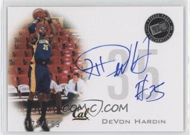 2008 Press Pass - Press Pass Signings - Silver #PPS-DH - DeVon Hardin /199