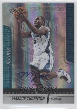 2009-10 Absolute Memorabilia - [Base] - Gold Spectrum Signatures [Autographed] #126 - Marcus Thornton /249