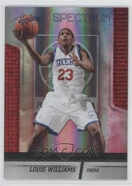 2009-10 Absolute Memorabilia - [Base] - Platinum Spectrum #99 - Louis Williams /25