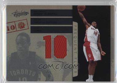 2009-10 Absolute Memorabilia - Frequent Flyer - Jersey Number Materials #10 - DeMar DeRozan /25