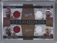 LeBron James, Shaquille O'Neal, Mo Williams, Zydrunas Ilgauskas /25