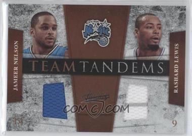 2009-10 Absolute Memorabilia - Team Tandems - Materials #9 - Jameer Nelson, Rashard Lewis /100