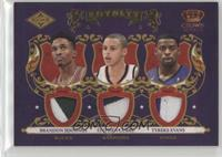 Brandon Jennings, Stephen Curry, Tyreke Evans /25