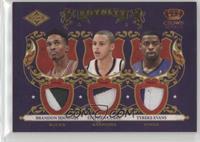Brandon Jennings, Stephen Curry, Tyreke Evans /25