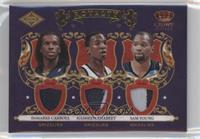 DeMarre Carroll, Hasheem Thabeet, Sam Young #/25