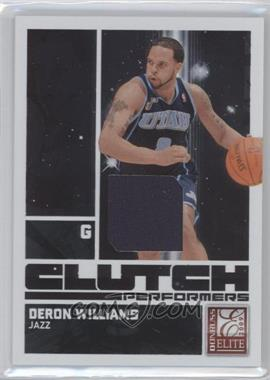 2009-10 Donruss Elite - Clutch Performers - Jersey #8 - Deron Williams /299