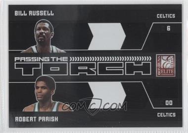 2009-10 Donruss Elite - Passing the Torch - Black #2 - Bill Russell, Robert Parish /25
