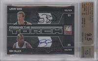 Larry Bird, Ray Allen /25 [BGS 9.5 GEM MINT]