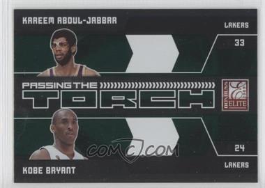2009-10 Donruss Elite - Passing the Torch - Green #15 - Kareem Abdul-Jabbar, Kobe Bryant