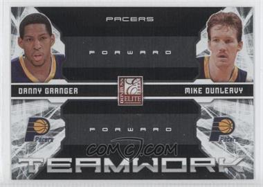 2009-10 Donruss Elite - Teamwork Combos - Black #11 - Danny Granger, Mike Dunleavy Sr. /25
