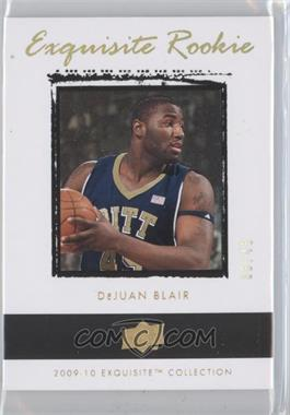 2009-10 Exquisite Collection - [Base] - Gold Rainbow Rookies #51 - DeJuan Blair /45