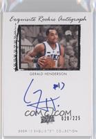Exquisite Rookie Autograph - Gerald Henderson #/225