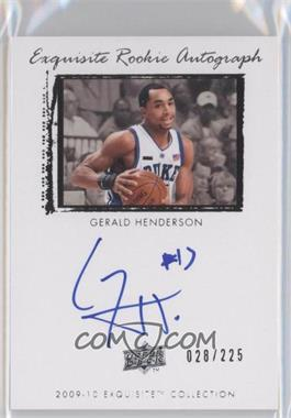 2009-10 Exquisite Collection - [Base] #60 - Gerald Henderson /225