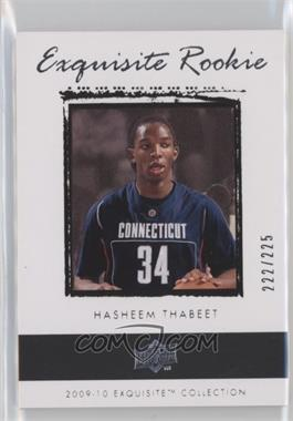 2009-10 Exquisite Collection - [Base] #61 - Hasheem Thabeet /225