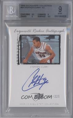 2009-10 Exquisite Collection - [Base] #64 - Stephen Curry /225 [BGS 9]